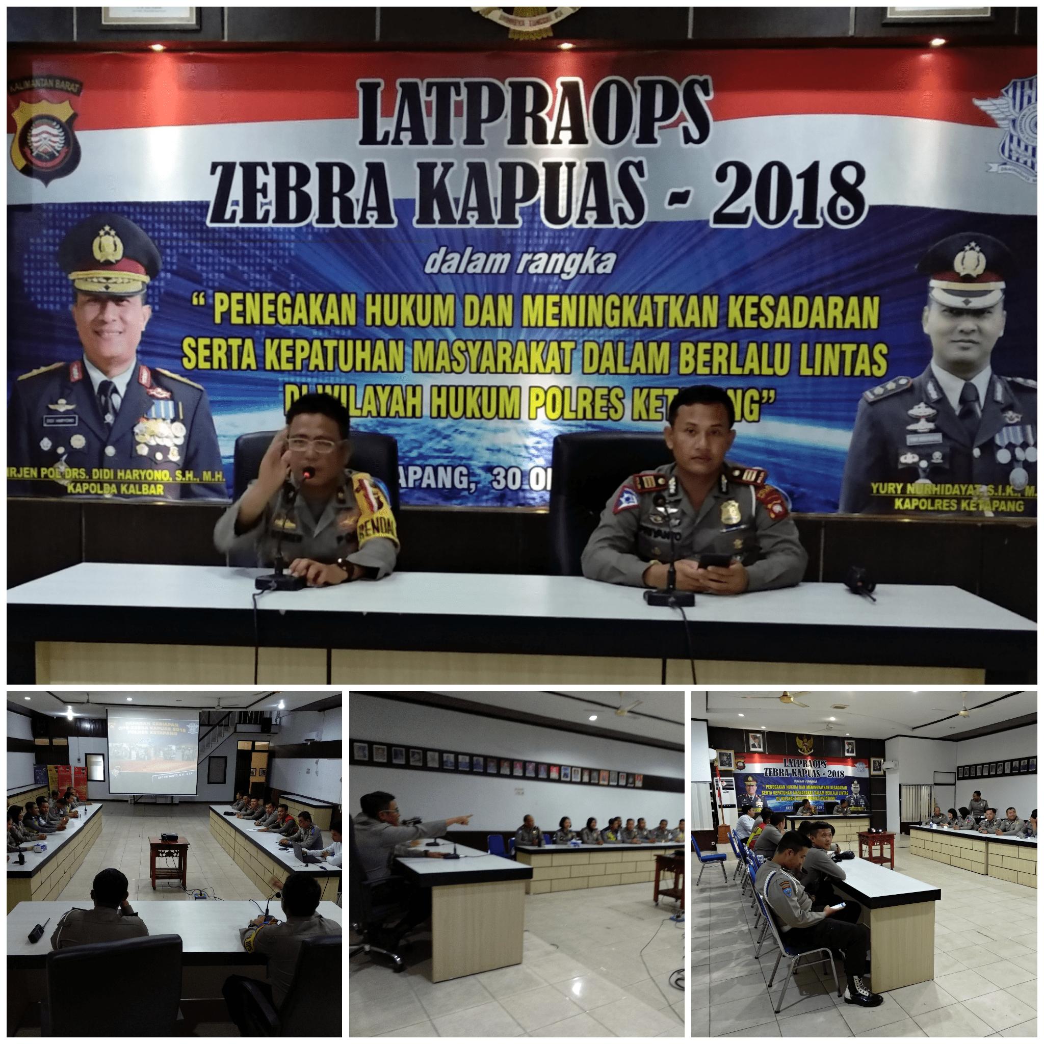 Polres Ketapang gelar Lat Pra Ops Zebra Kapuas 2018