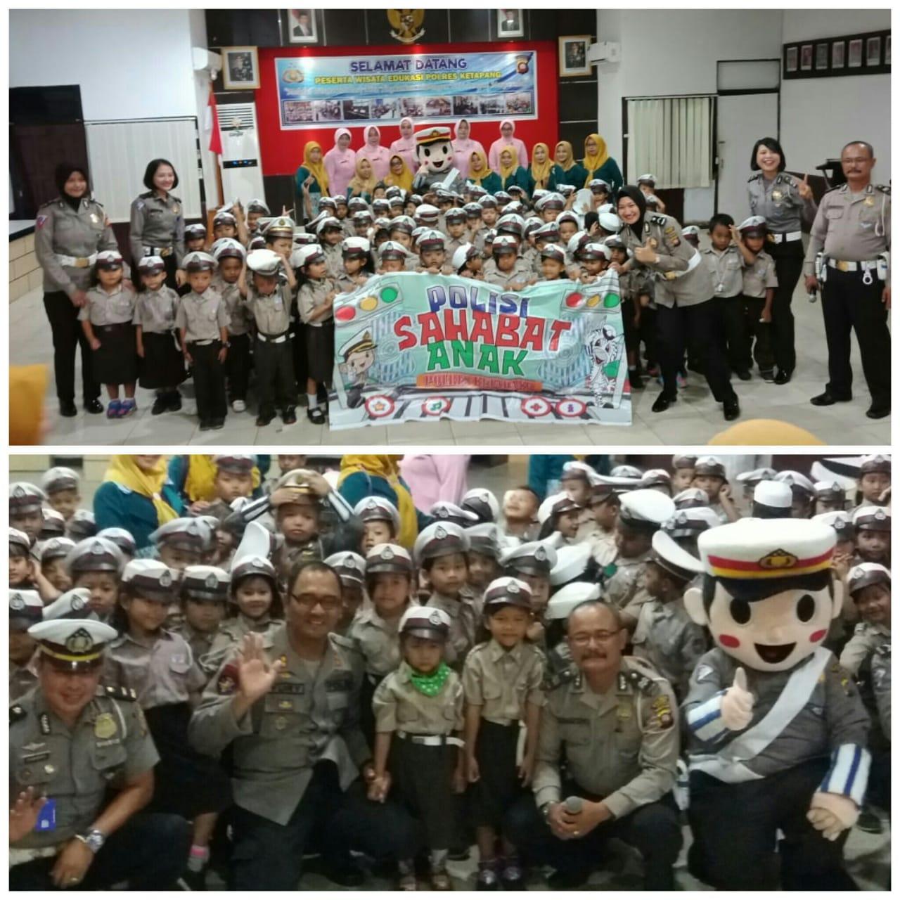 Satlantas Polres Ketapang menggelar wisata edukasi bersama TK Bhayangkari Ketapang
