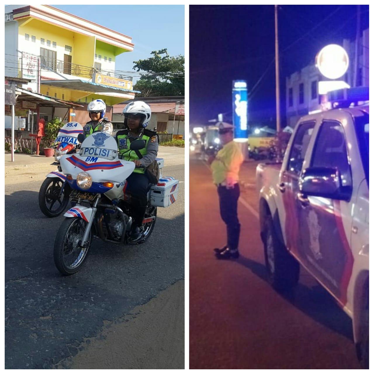 Unit turjawali satlantas polres ketapang melaksanakan patroli seputaran kota ketapang