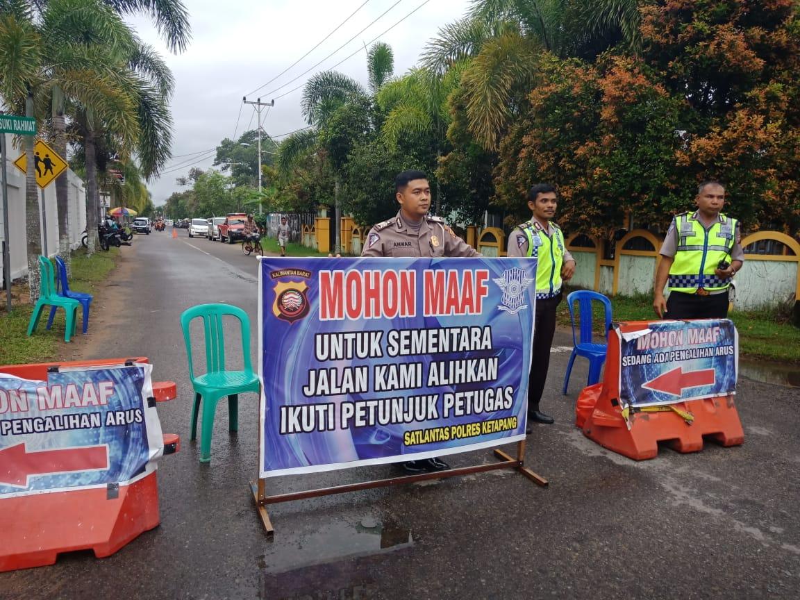 Satlantas Ketapang pada Acara Club Motor di Taman Tanjung Pura