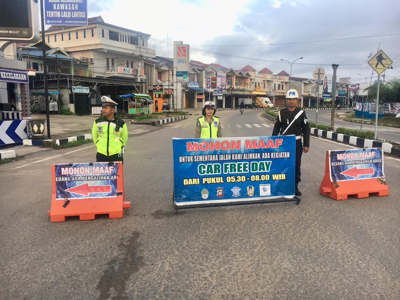Kegiatan Pam Car Free Day Seputaran Kota Ketapang
