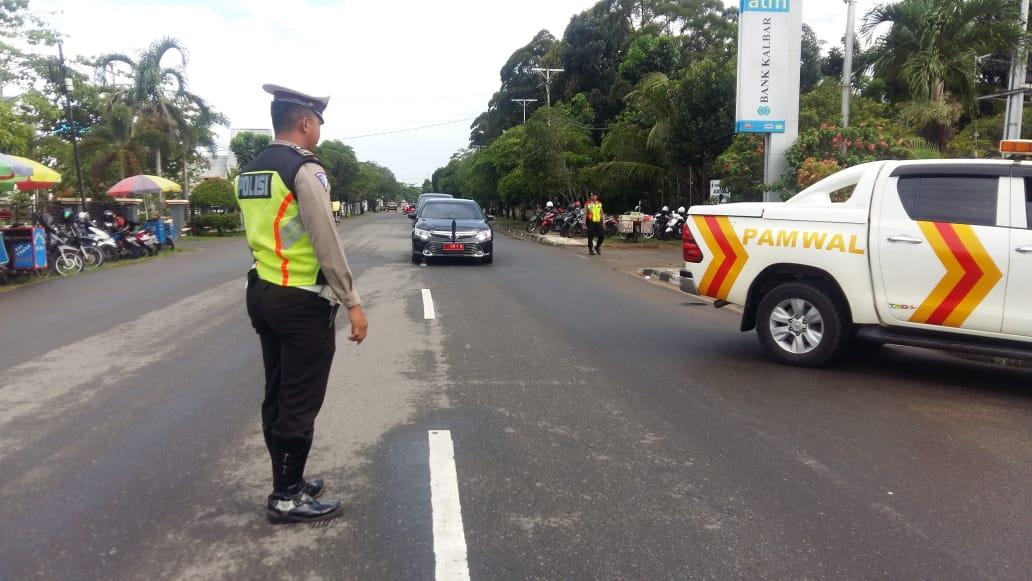 Satlantas Polres Ketapang, Laksanakan Giat PAM HUT PGRI