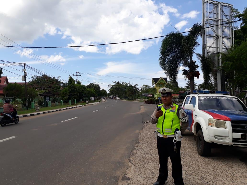 Patroli Siang Satlantas Ketapang, Berikan Pelayanan kepada Masyarakat