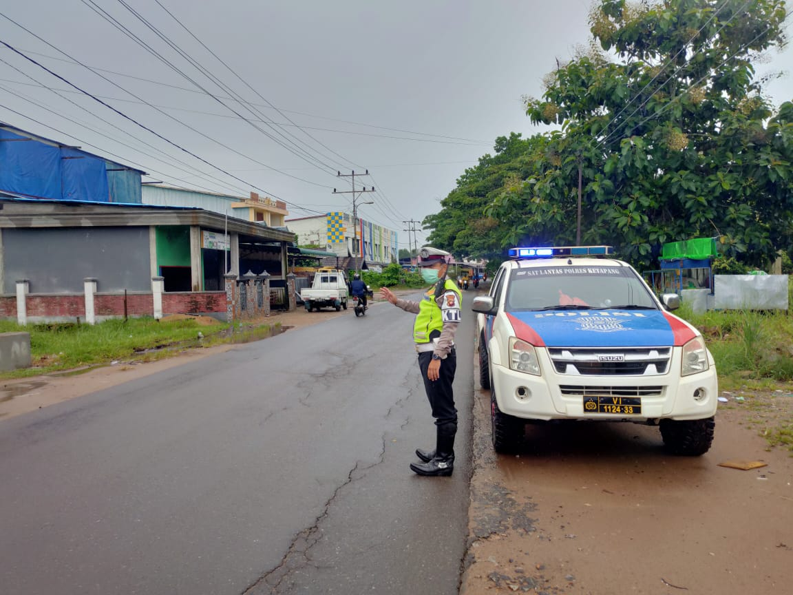 Gelar Patroli, Satlantas Polres Ketapang Imbau Kepada Pengendara