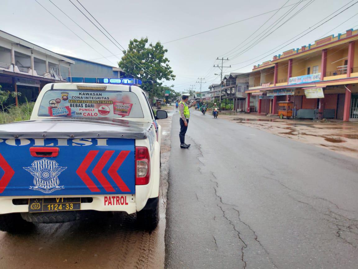 Cegah Kriminalitas, Sat Lantas Ketapang Laksanakan Patroli Siang Hari