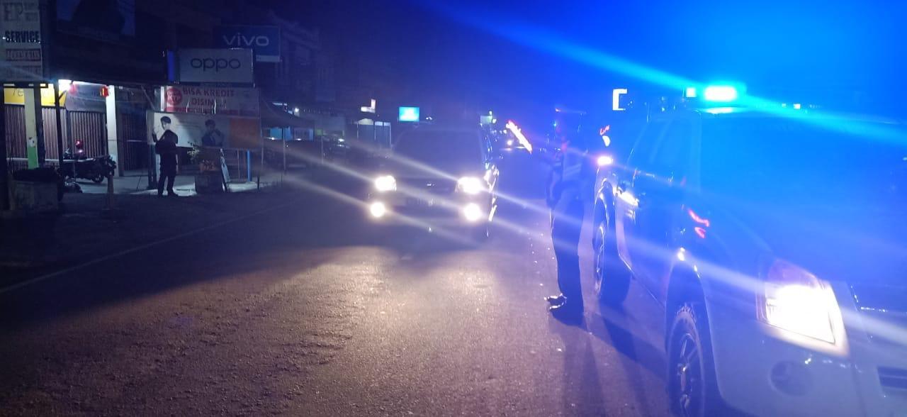 tujuan utama patroli malam hari personil Sat Lantas Ketapang