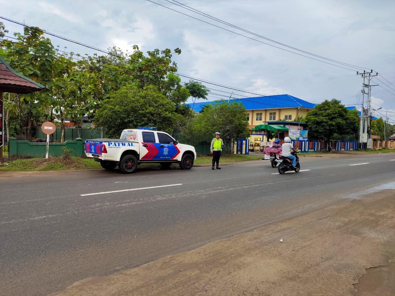 Satlantas Polres Ketapang Intensifkan Patroli di Jalur Rawan Kecelakaan Lalu Lintas