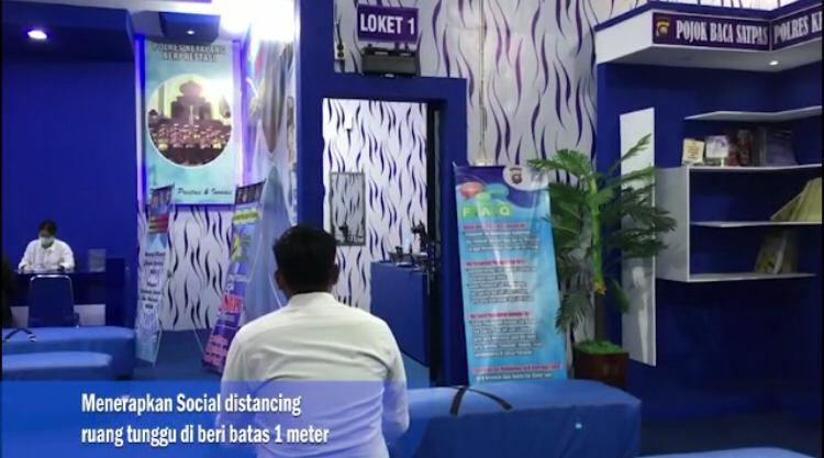 Cegah Corona, Satpas Ketapng Berlakukan 'Sosial Distance'