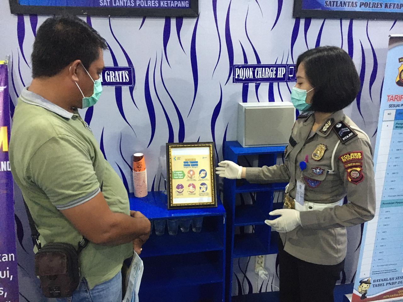 Cegah Corona, Pemohon SIM Diberikan Edukasi Cara Menghambat Penyebaran Covid-19