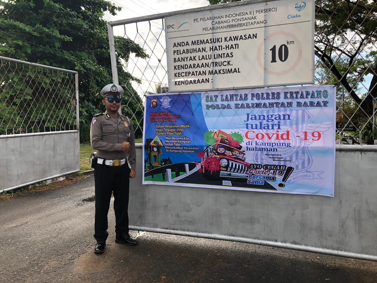 Gelar Ops Keselamatan Kapuas 2020, Sat Lantas Polres Ketapang Himbau Masyarakat Cegah Covid-19