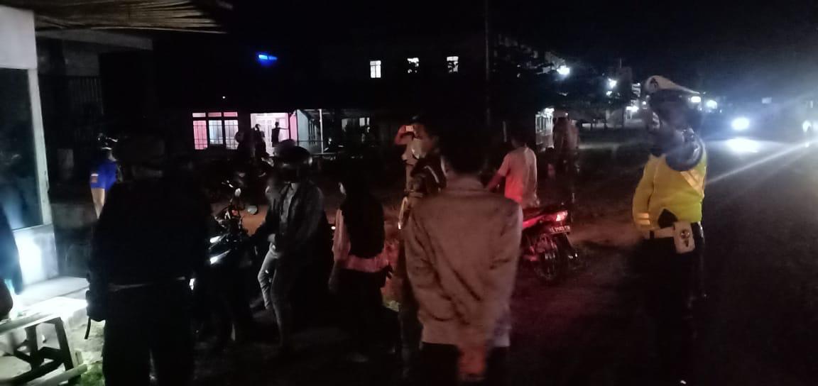Sat Lantas Polres Ketapang Fokuskan Patroli Malam Sembari Menghimbau Antisipasi Covid-19
