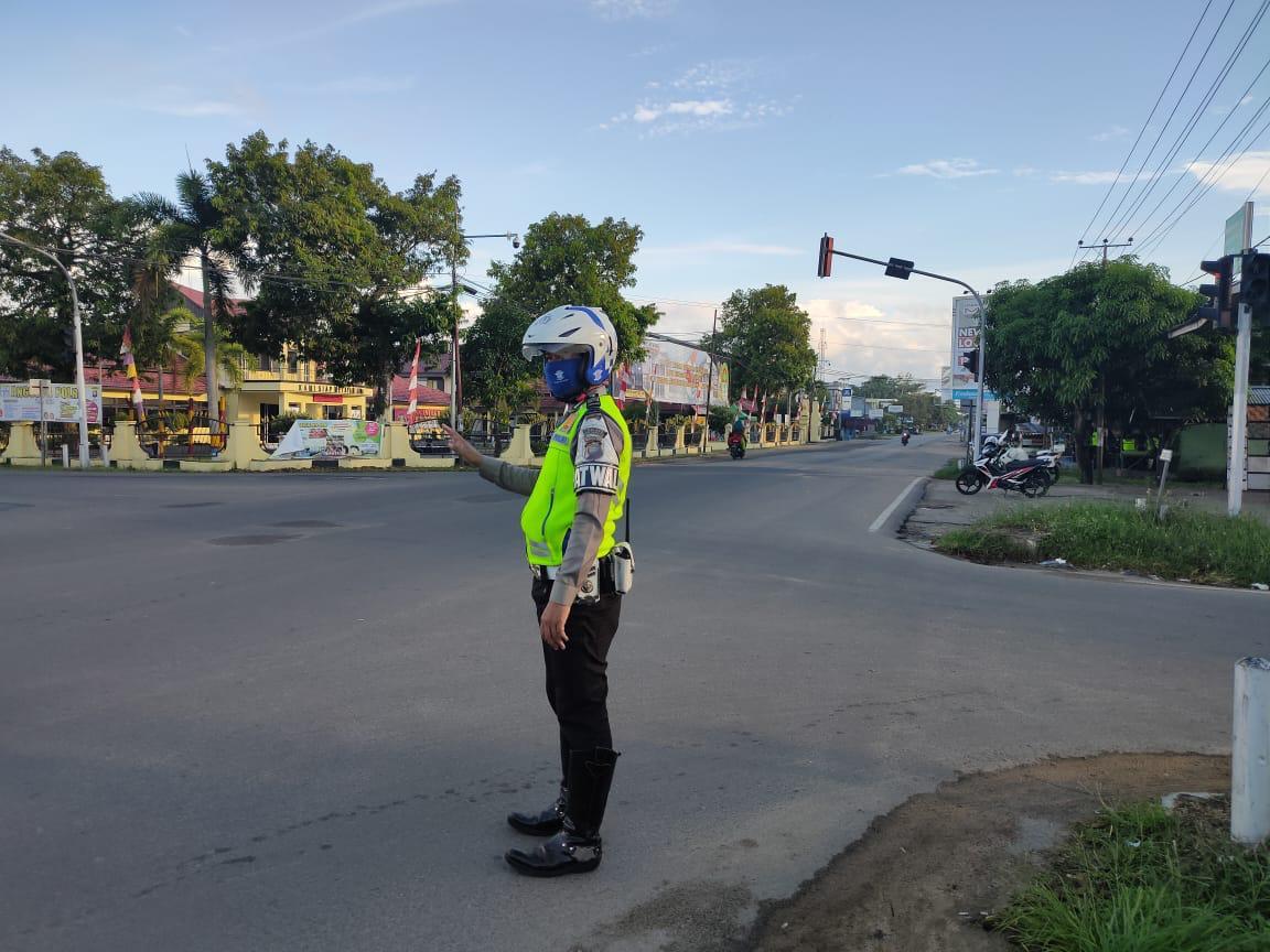 Pengaturan Arus Lalin Pagi Hari Satlantas, Upaya Memberikan Pelayanan Terbaik Kepada Pengguna Jalan