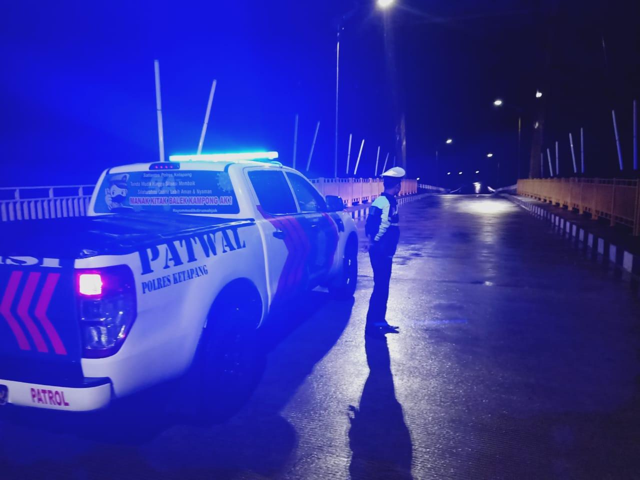Satlantas Polres Ketapang Gelar Patroli Malam, Cegah Balapan Liar