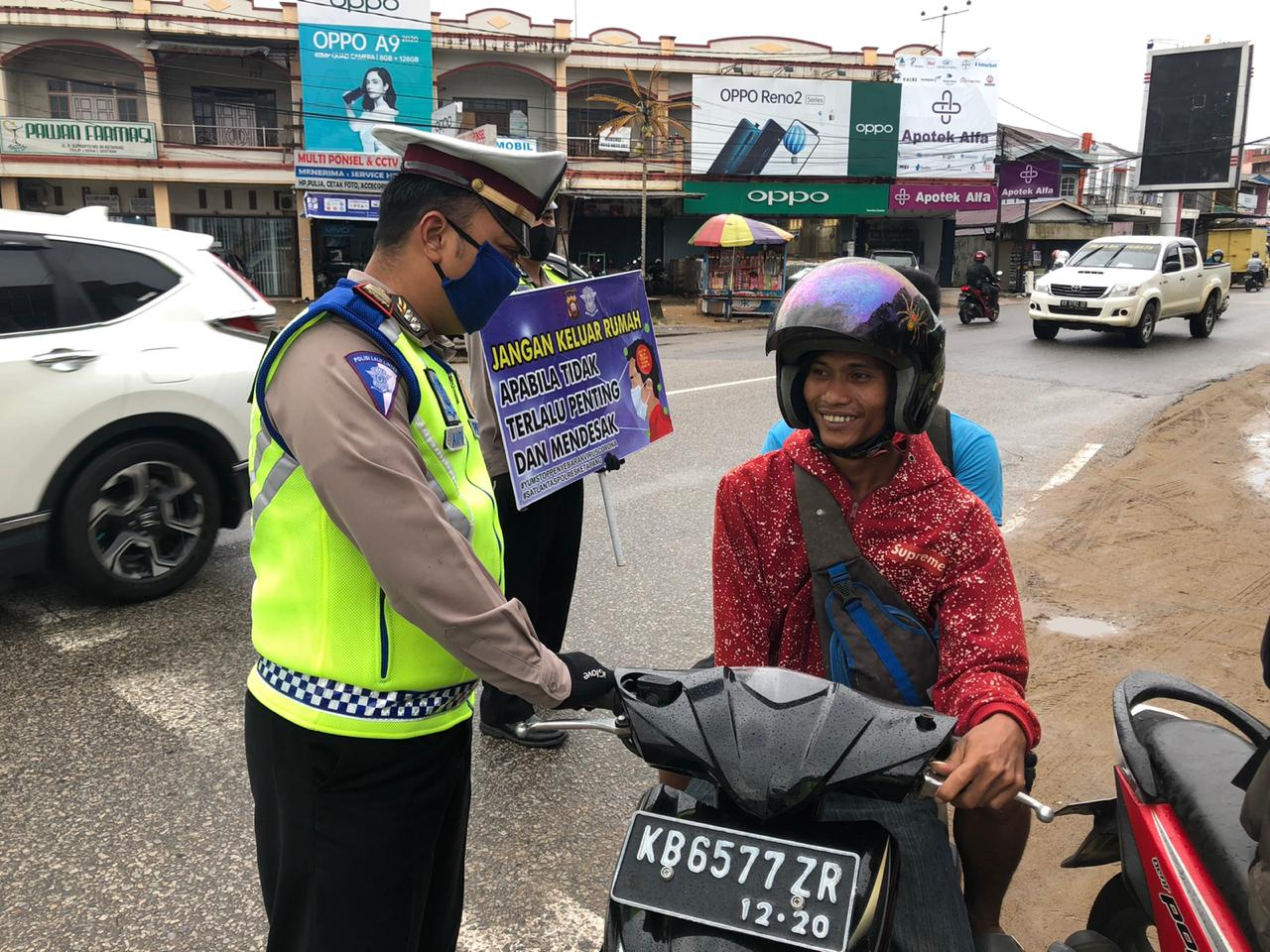 Tingkat Kesadaran Warga Masih Rendah, Polisi Lakukan Razia Pengendara Tak Gunakan Masker