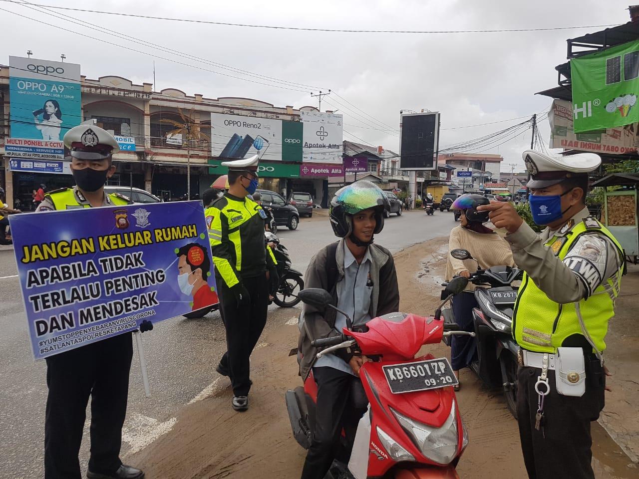 Warga Terkejut Sat Lantas Polres Ketapang Gelar Razia Masker