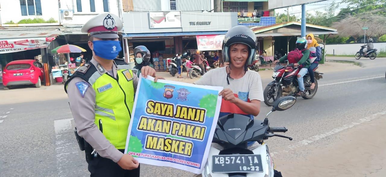 Tak Gunakan Masker Polisi Langsung Jaring dan Berhentikan Pengendara