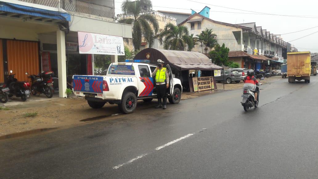 Di tengah wabah COVID-19, Satlantas Polres Ketapang aktif patroli antisipasi pencurian sepeda motor