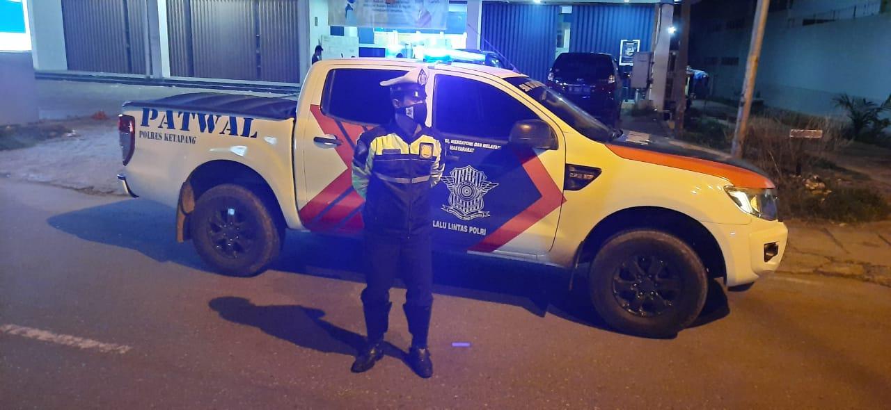 Antisipasi Balap Liar, Sat Lantas Polres Ketapang Patroli biru