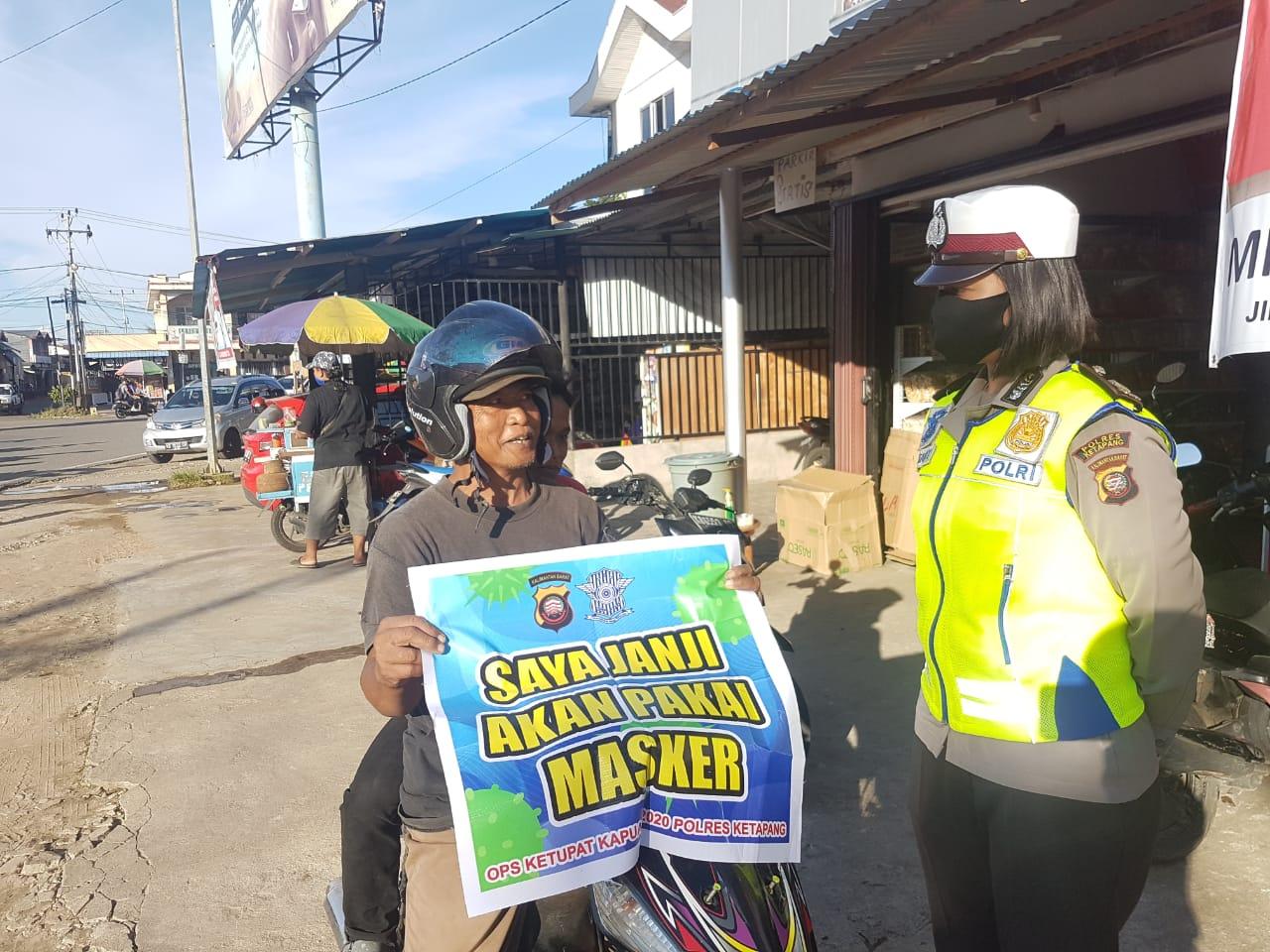Polisi Terapkan Sanksi, Bagi Pengendara Tidak Pakai Masker