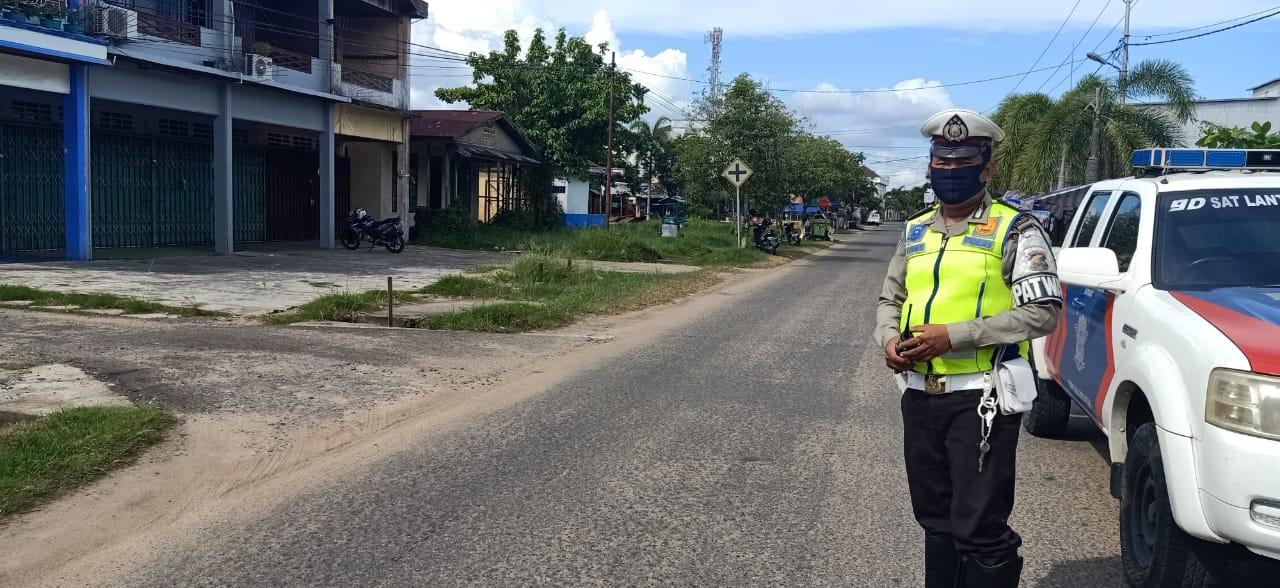 Tekan Angka Kecelakaan, Sat Lantas Polres Ketapang Patroli Dititik Spot Rawan Laka