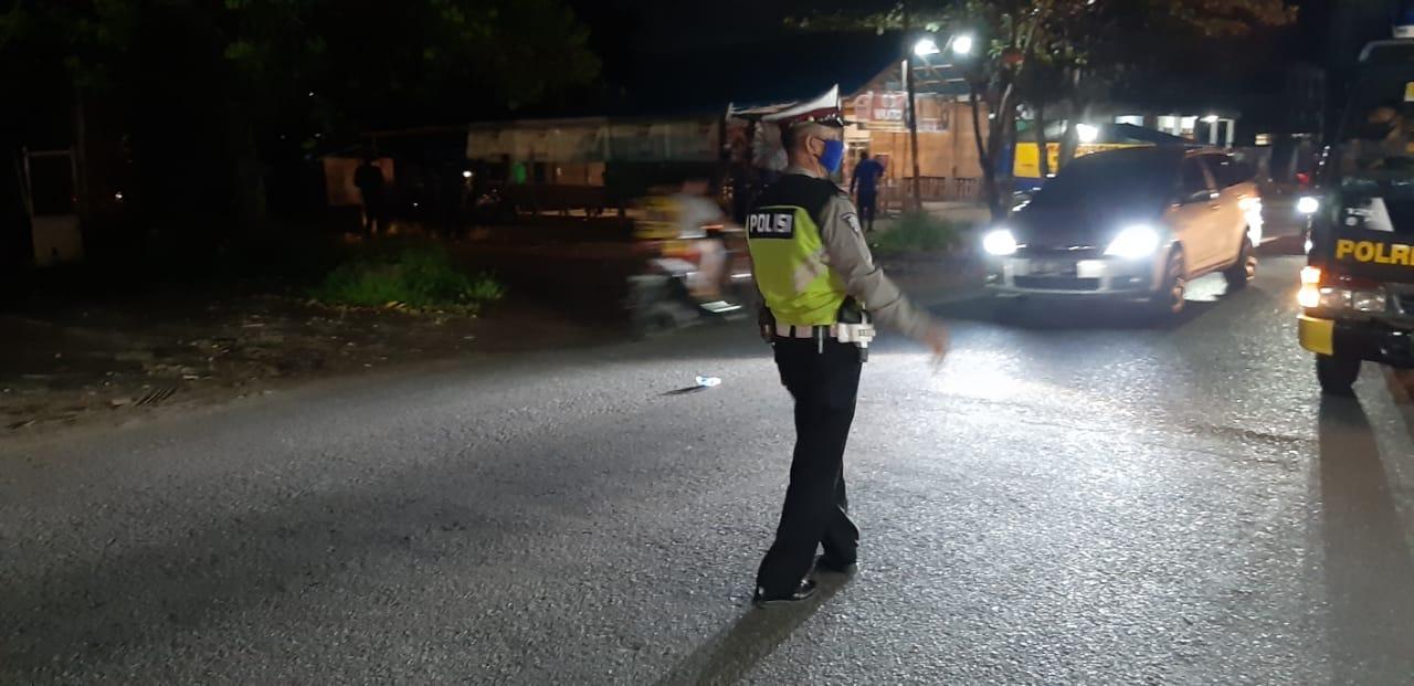 Patroli Malam Sat Lantas Polres Ketapang, Jaga Kamseltibcarlantas