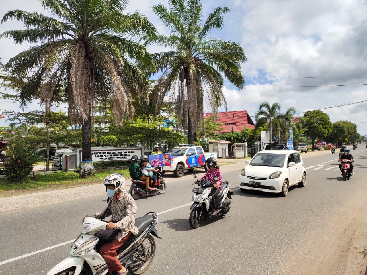 Cara Satlantas Polres Ketapang Imbau Warga Tak Mudik di Tengah Pandemi Corona