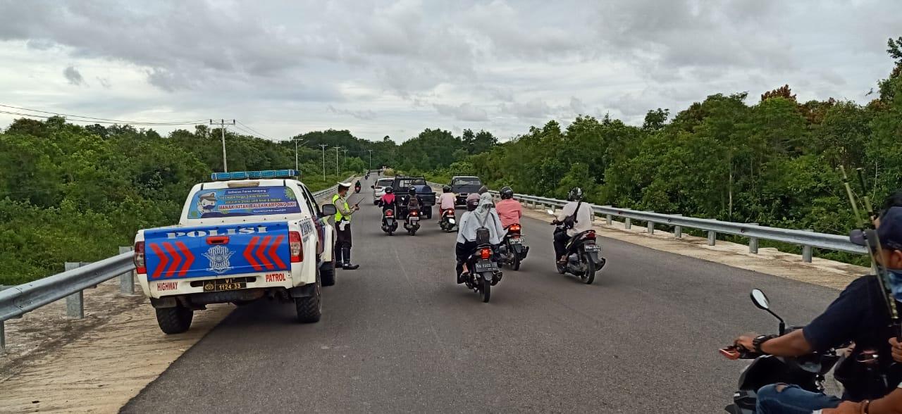 Jembatan Pawan 5 Rawan Terjadi Balap Liar, Satlantas Ketapang Patroli Hunting Cegah Balap Liar