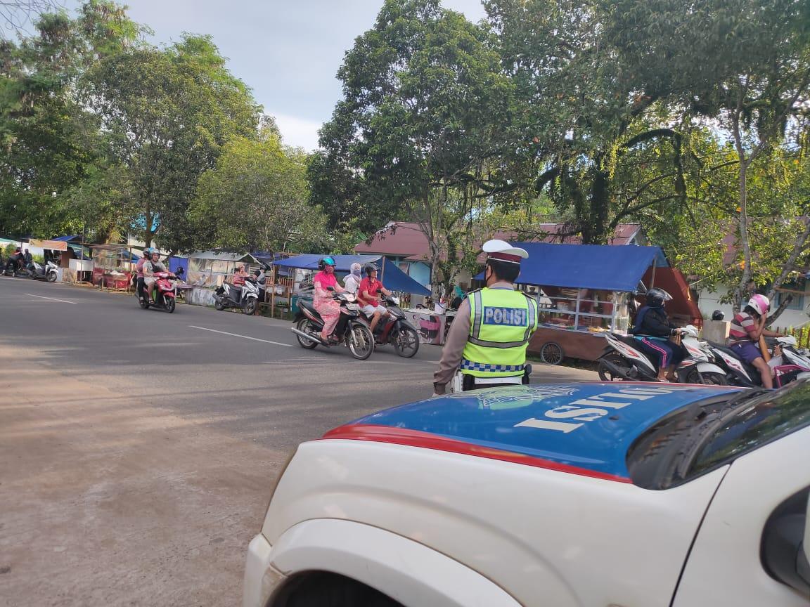 Cegah Kriminalitas dan Laka Lantas, Satlantas Polres Ketapang Patroli Siang Hari