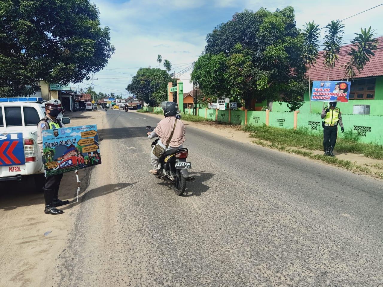 Satlantas Polres Ketapang Imbau Warga Tidak Mudik