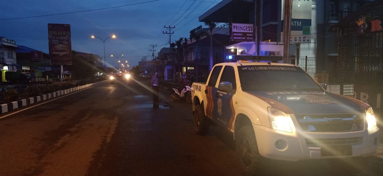 Cegah Balap Liar,Satlantas Polres Ketapang Rutin Patroli di Waktu Subuh