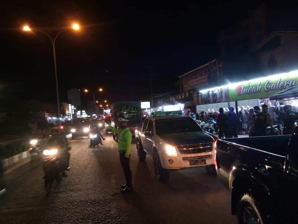 Antisipasi Tindak Kejahatan dan Penyebaran Virus Corona, Satlantas Polres Ketapang Lakukan Patroli M