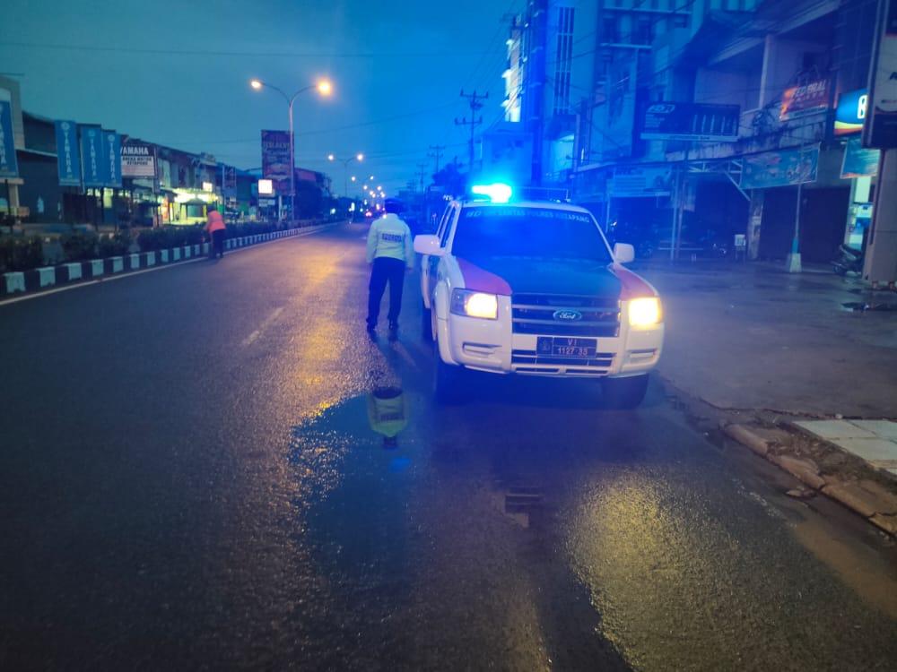 Antisipasi Balap Liar, Satlantas Polres Ketapang Gelar Patroli Usai Sahur