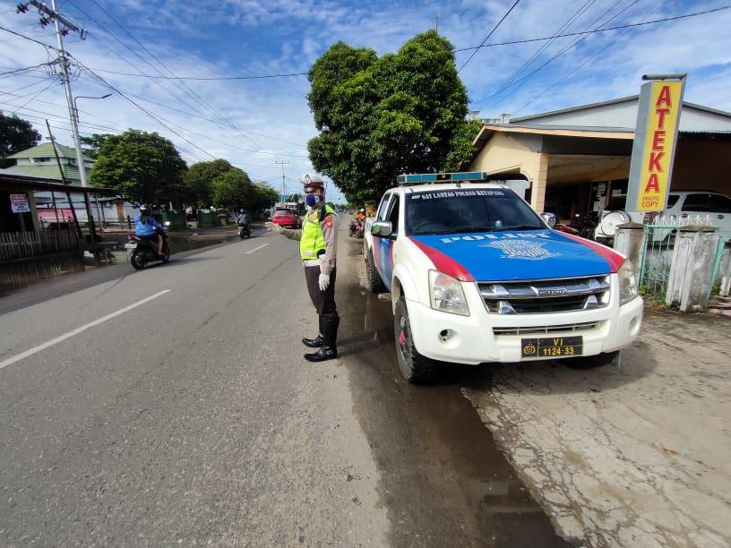 Sat Lantas Polres Ketapang Patroli Dititik Spot Rawan Laka