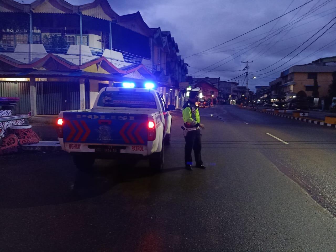 Antisipasi Balap Liar, Sat Lantas Polres Ketapang Rutin Laksanakan Patroli
