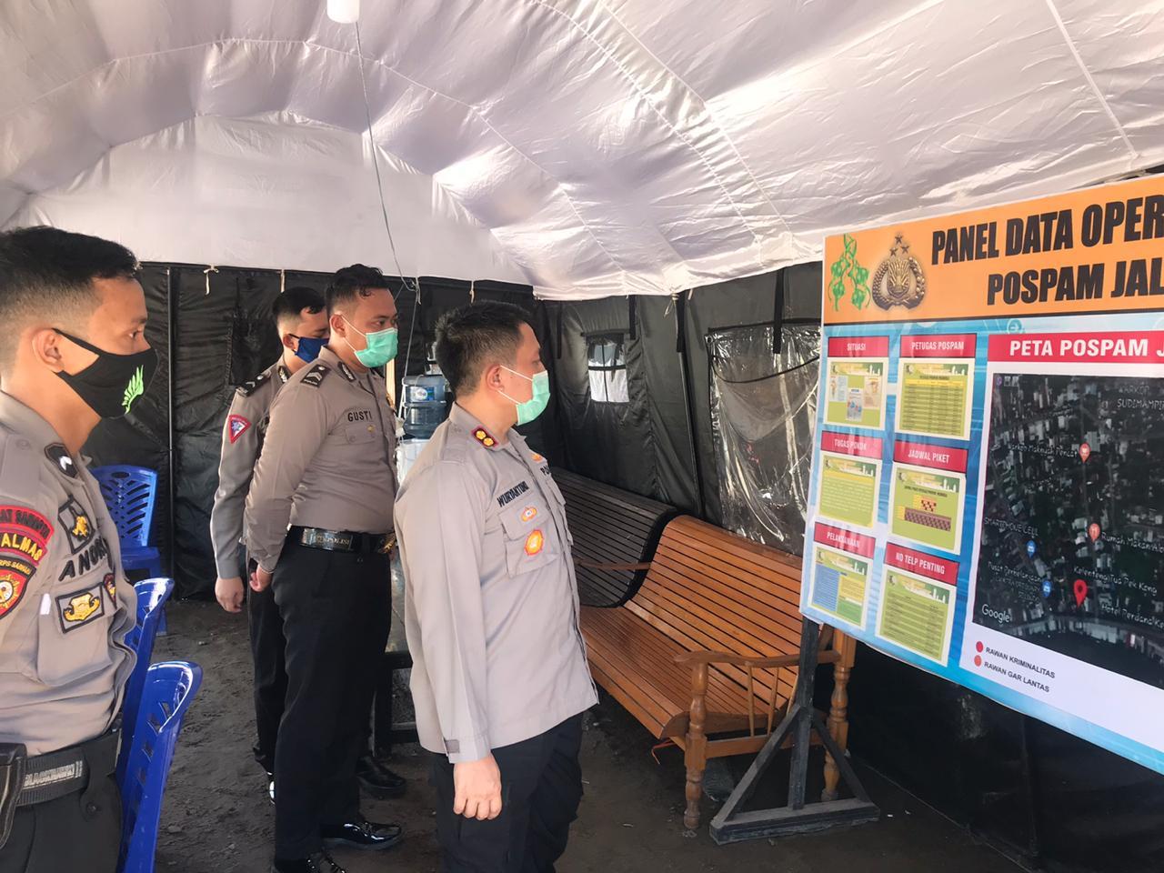 Kapolres Ketapang Cek Langsung Pos Pam Dan Pos Yan Ops Ketupat Kapuas 2020