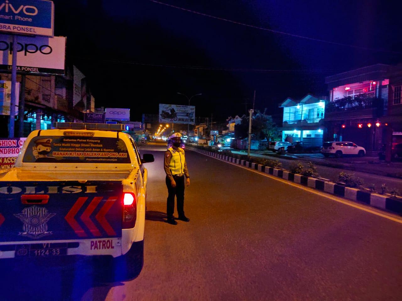 Gencar Patroli di Malam Hari ini yang Dilakukan Satlantas Ketapang