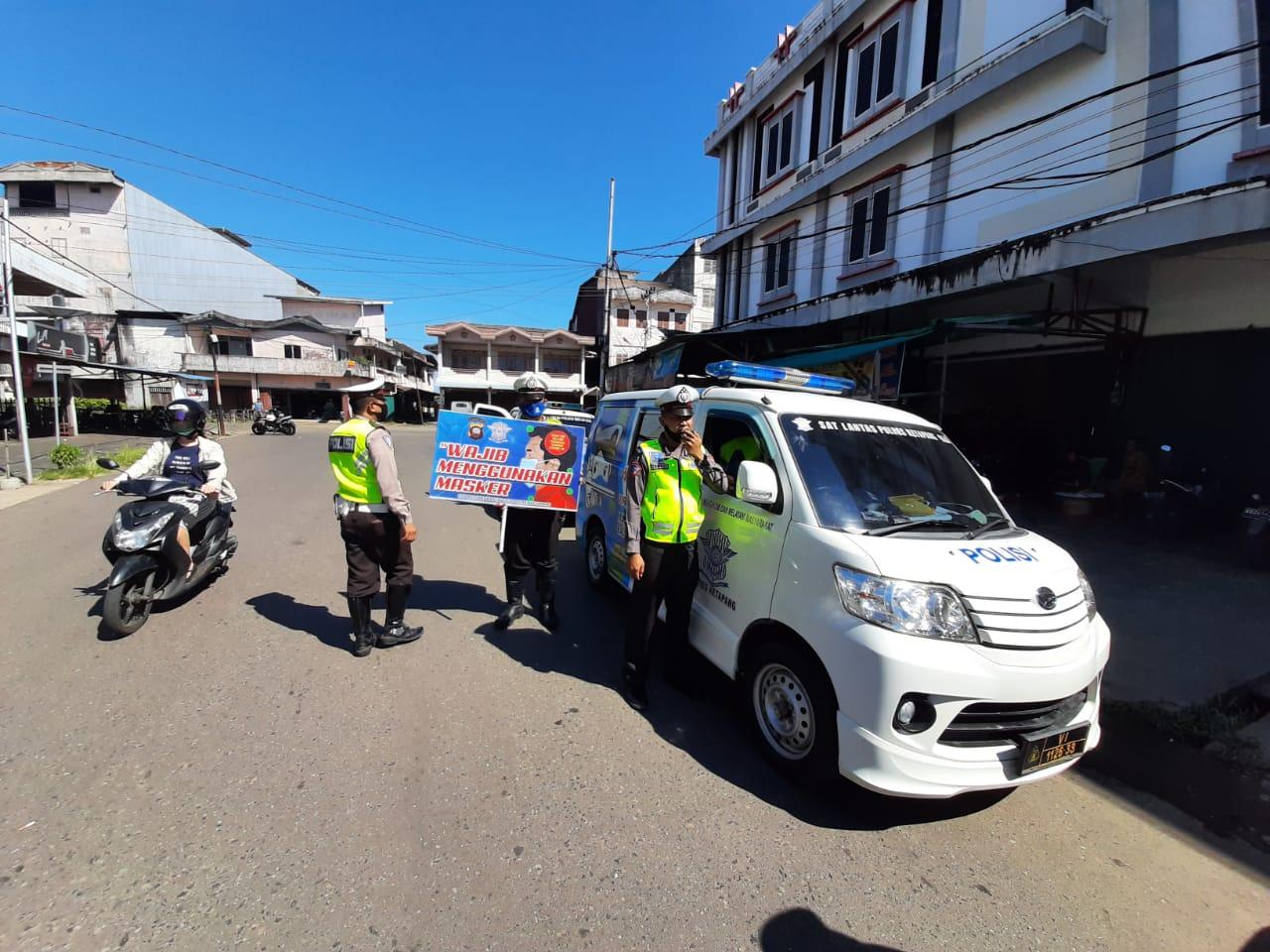 Satlantas Polres Ketapang Laksanakan Penling, Himbau Masyarakat Cegah Covid-19