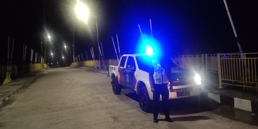 Antisipasi Balap Liar, Satlantas Polres Ketapang Lakukan Patroli Malam