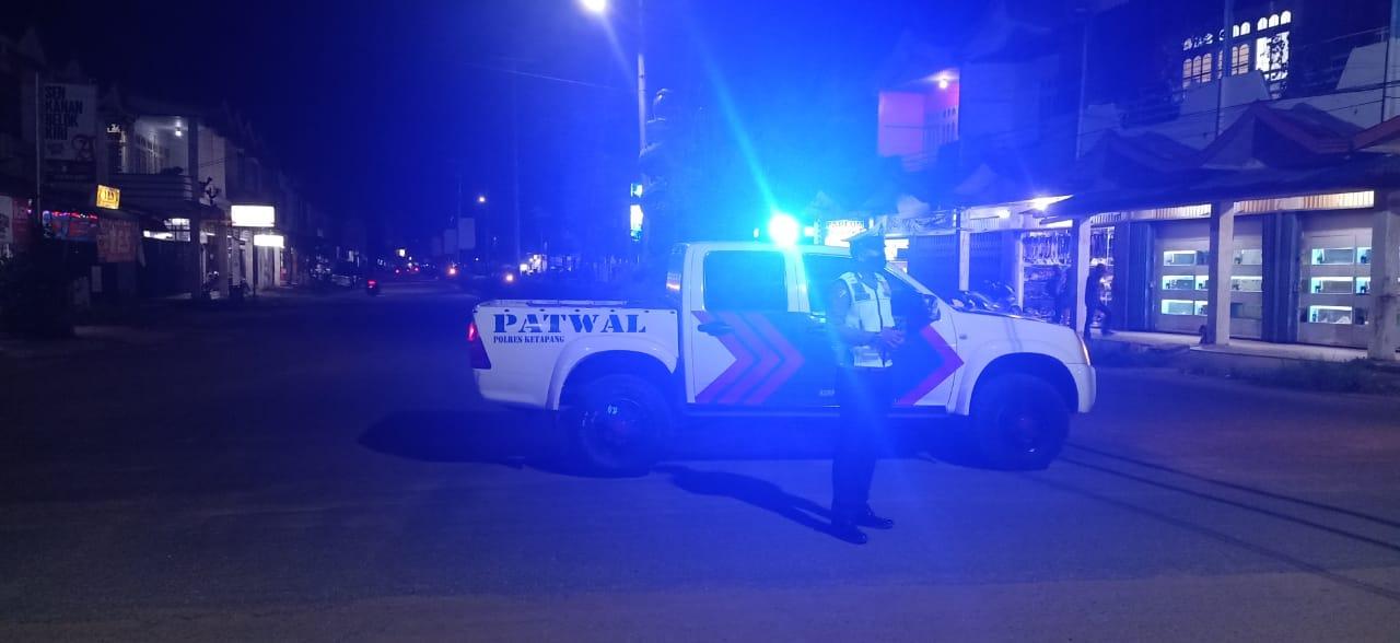 Memastikan Keamanan Wilayah, Sat Lantas Polres Ketapang Tingkatkan Patroli Malam Hari