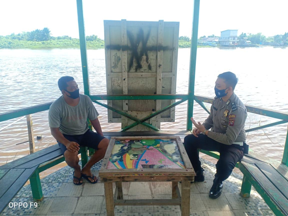 Satlantas Polres Ketapang gelar patroli dialogis imbau warga cegah corona