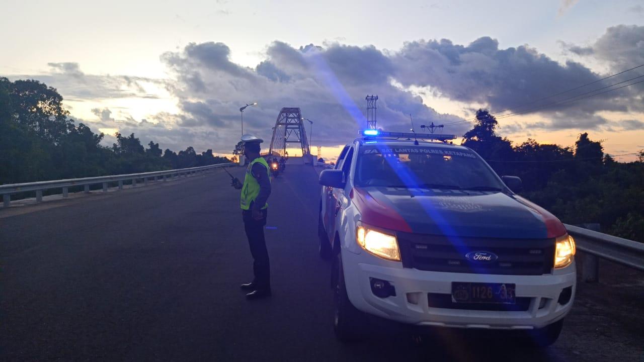 Patroli Sore Pastikan Keamanan Wilayah Kabupaten Ketapang