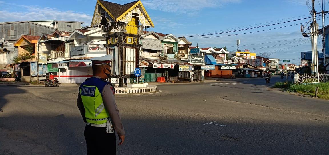 Satlantas Polres Ketapang Plotting Point Pagi Guna Tekan Angka Pelanggaran dan Kecelakaan