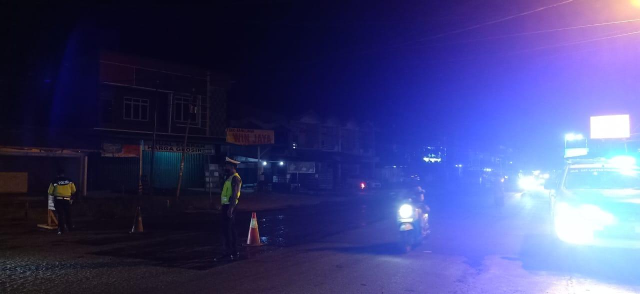 Satlantas Polres Ketapang Intensifkan Patroli Malam Hari di Jalur Rawan Langgar maupun Laka Lantas