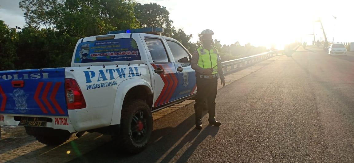 Patroli Sore Sat Lantas Cegah Pelanggaran dan Laka Lantas