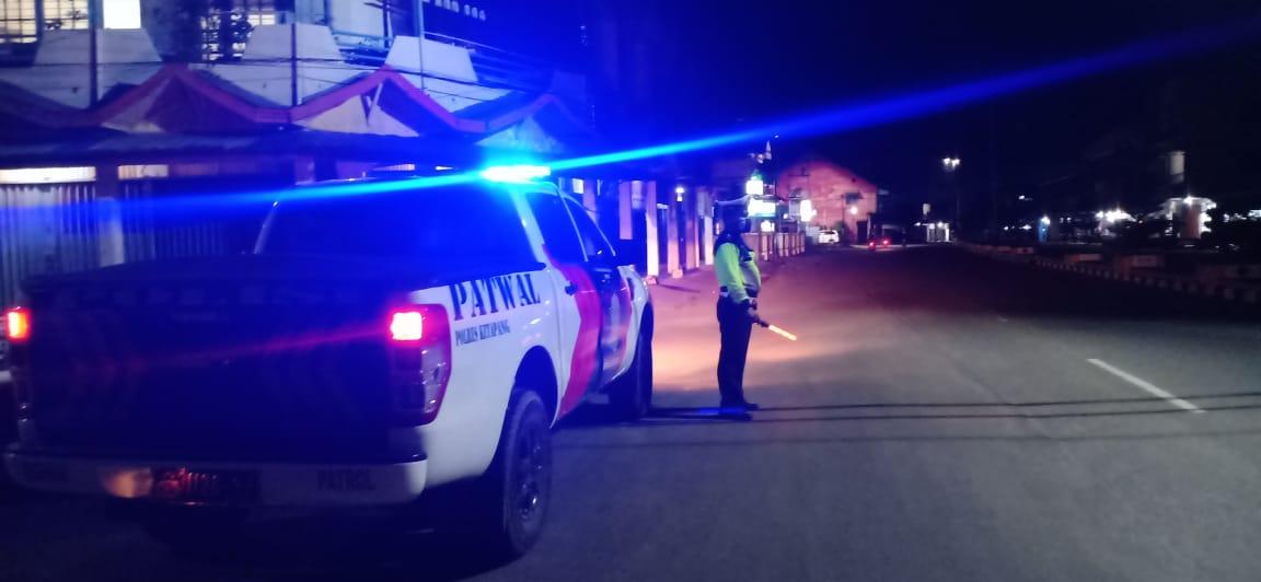 Cegah Aksi Kejahatan di Malam Hari, Sat Lantas Polres Ketapang Lakukan Patroli