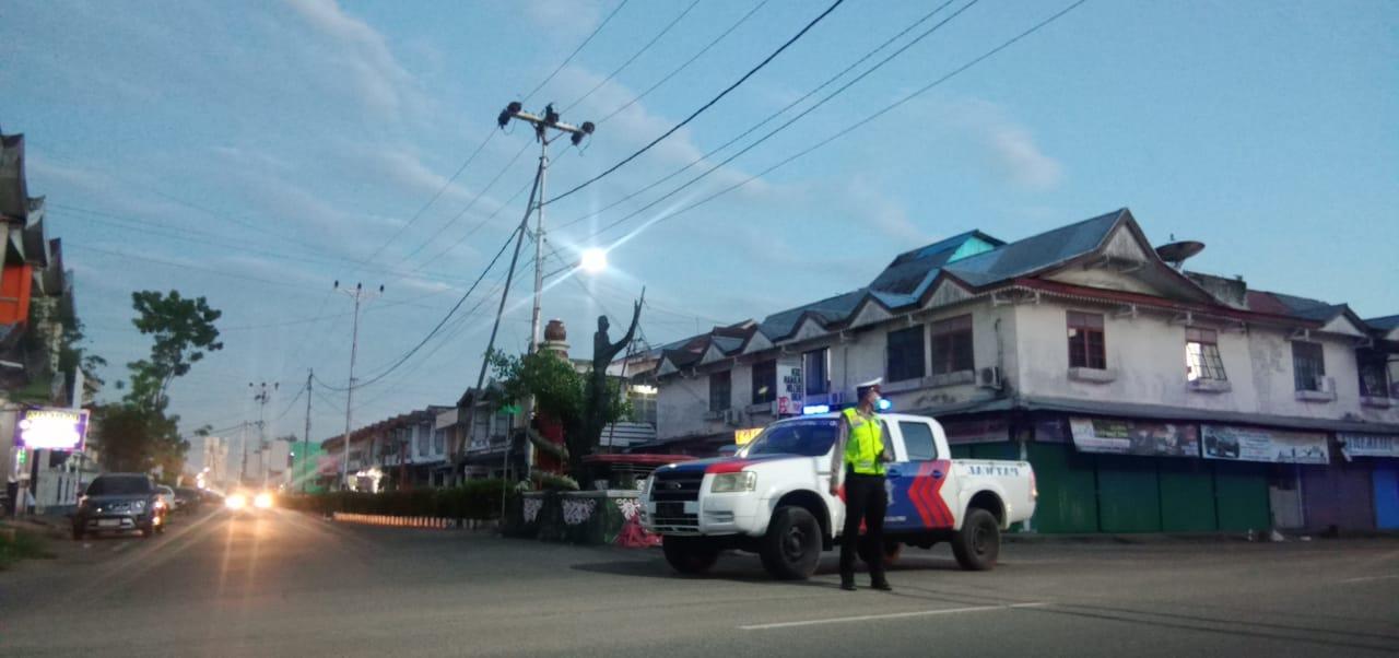 Antisipasi Balap Liar, Satlantas Polres Ketapang Laksanakan Patroli Sore