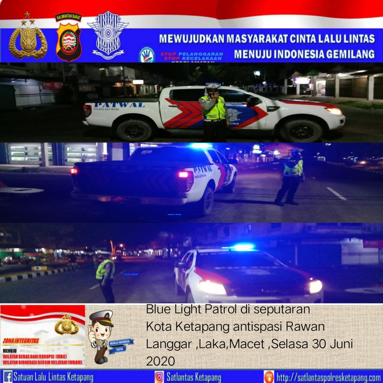 Berikan Rasa Nyaman Untuk Masyarakat, Satlantas Polres Ketapang Adakan Giat Patroli Malam