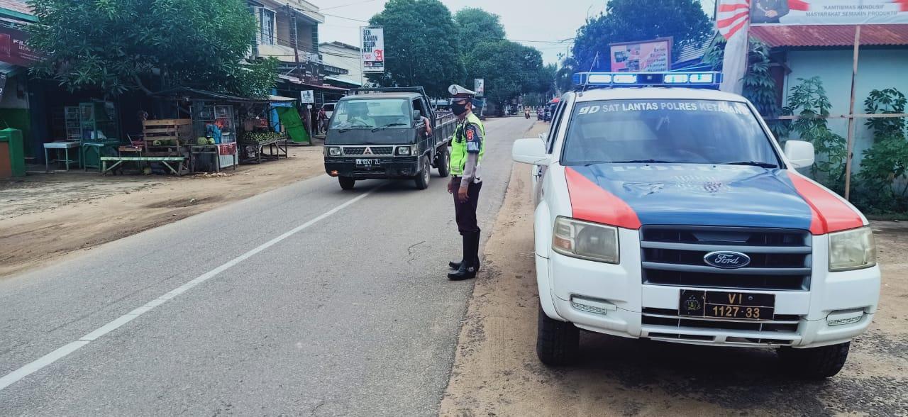 Cegah Kecelakaan, Satlantas Polres Ketapang Intensifkan Patroli di Kawasan Rawan Laka