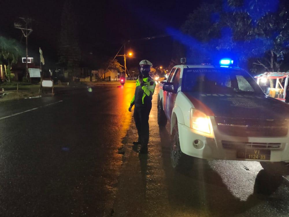 Cegah Kejahatan Malam, Sat Lantas Polres Ketapang Gencar Patroli