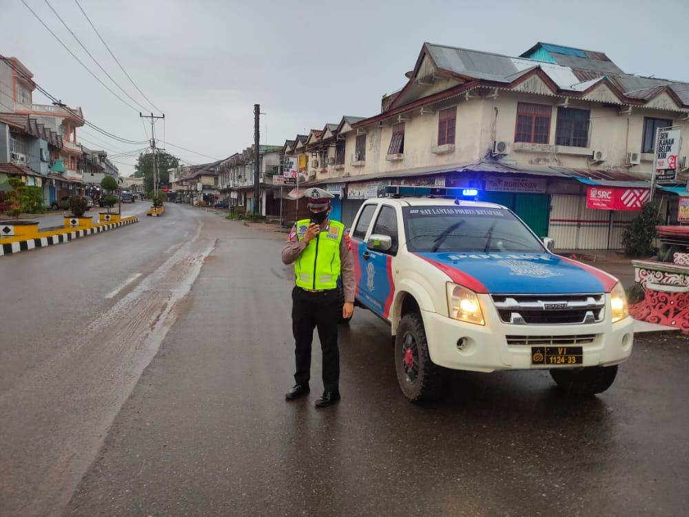 Amankan Wilayah, Satlantas Polres Ketapang Lakukan PAM Sore Hari